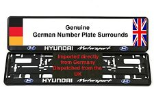 HYUNDAI Number Plate Surrounds x 2