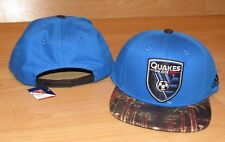 Adidas San Jose Earthquakes Skyline MLS Soccer Futbol Snapback Hat Cap Men's