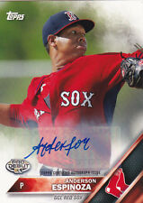 ANDERSON ESPINOZA 2016 TOPPS PRO DEBUT CERTIFIED AUTOGRAPH SIGNED CARD RED SOX