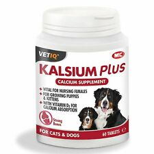 Vetiq Kalsium Plus Tablets For Cats & Dogs  - 2 x 60 PACK [MCH0275]