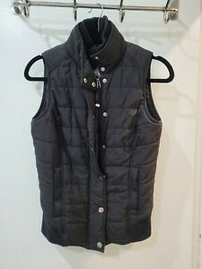 Lorna Jane Shearling Lined Black Puffer Vest Small/8-10 EUC!