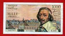 (Ref: K.240)  1000 FRANCS RICHELIEU 1/03/1956 (NEUF-)