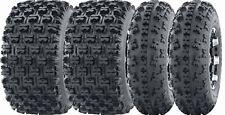 23x7-10 Front 22x11-9 Rear Set of 4 Sport ATV Tires 23x7x10 22x11x9 6PR GNCC