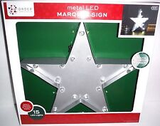 """New 13.5"""" Lighted Metal Marquee Silver Star Sign Rustic Country Bar Decor"""