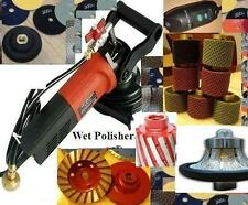 "Wet Grinder sinkwork polish 1/2"" Roundover Bullnose Router pad grinding cup drum"