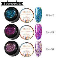 RBAN NAIL UV Gel Nail Polish Soak Off Glitter Sequin Varnish Set 5ML Manicure