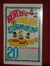 The Beatles 1968 Yellow Submarine Pop Out Book FAB COLORFUL MINT OLD STOCK SEE