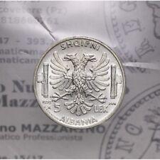 5 Lek 1939 XVII (Albania) LOT1234