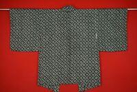 Vintage Japanese Kimono Silk Antique BORO HAORI Kusakizome SHIBORI/YV06/530