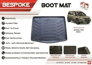 For SKODA YETI 2009- 2017 Tailored Rubber Boot Liner Fitted Mat Dog tray