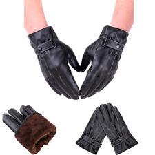 Les hommes en cuir gants pleine doigt moto conduite hiver chaud écran tactile