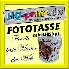 Fototasse Design Beste Mama Geschenkidee Fotogeschenk Muttertag Fotobecher