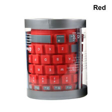 Ultra Thin Wireless Bluetooth Keyboard Silicone Waterproof Flexible for iPad PC Red