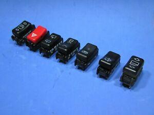 Mercedes Set of Seven Interior Rocker Switches.Windows/lights/Washers/Heater etc