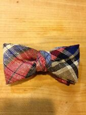 NEW  TODDLER/LITTLE BOYS  BOW TIES RED/NAVY/TAN LINEN /MADE IN THE USA