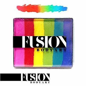Fusion Body Art Face Paint - Rainbow Cake | Bright Rainbow 50gr