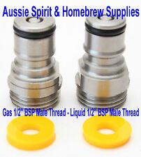"""New Turret Ball Lock 1/2"""" BSP Male Thread Tank Plugs Mytton Rheem Home Brew Kegs"""