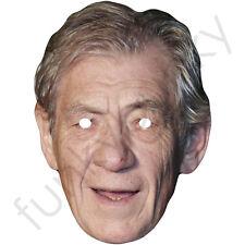 Sir Ian McKellen - British Celebrity Actor Card Mask - Made In The UK