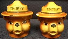 Smokey Bear Salt & Pepper Shakers, Vintage!
