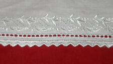 SALE 50% OFF  NEW IMPORTED IRISH BEIGE EMBROIDERED SCALLOP WIDE TRIM