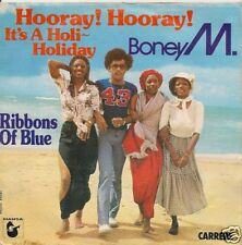 """45T-BONEY M-HOORAY HOORAY IT'S A HOLI HOLIDAY--""""DISCO"""""""