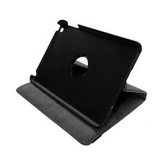 Black Leather Flip Case w 360 Degree Rotating Stand for Apple iPad mini 1 2 3