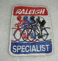 Vintage RALEIGH Bike Bicycle SPECIALIST Patch Embroidered Sew On