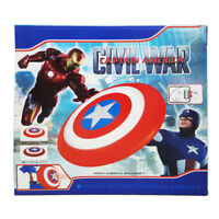 CIVIL WAR CAPTAIN AMERICA LED & MUSIC REVEAL SHIELD KID COSPLAY PLAY TOY GIFT