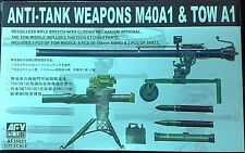 AFV Club 1/35 Anti-tank Weapons M40A1 106mm Recoilless Rifle & TOW A1 Missile