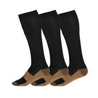Copper Infused Compression Socks 20-30mmHg Graduated Mens Womens S-XL