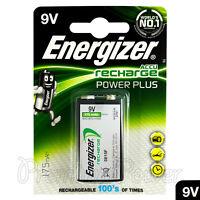 1 x Energizer Rechargeable 9V battery Recharge Power Plus NiMH 175mAh Block PP3