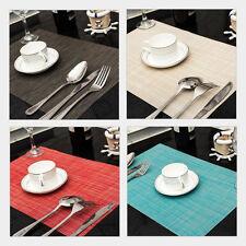 Platzset Esszimmer Platzmatte abwaschbar Tischmatte Decke Platzdeckchen 6 Farben