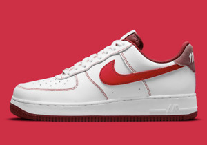 """Nike Air Force 1 '07 Shoes """"First Use"""" White University Red DA8478-101 Men's NEW"""