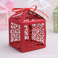 25x DIY Wedding Chocolate Candy Box Paper Hollow Gift Boxes Party Favor