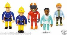 Fireman Sam 5 pack articulated figures Norman, Penny, Sam, Tom & Nurse Flood