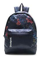 ea7b93e3195f2 Desigual Geopatch Blue Backpack Rucksack Tasche Peacoat Blau Rot Neu
