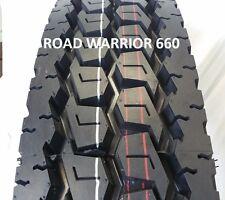 (4- TIRES) 11R22.5 ROAD WARRIOR NEW DRIVE TRUCK TIRES H/16PR PREMIUM QUALITY