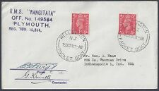 New Zealand Uk 1951 Wellington Packet Boat To Us Signed By Purser & Commander