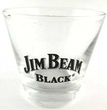 Jim Beam Black Bourbon Whiskey Logo Lowball Rocks Glass