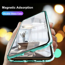 For Samsung Galaxy A11 A31 A51 A71 M31 A81 360 Full Cover Clear Glass Metal Case