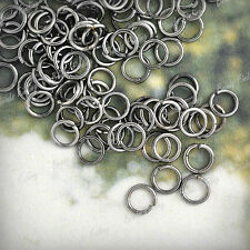 30g Open Jump Rings Connectors Round Iron Wholesale Findings 3/4/5/6/7/8/9/10mm