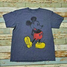 Men's Disney Mickey Tshirt Blue T-Shirt Sz L Cotton Short Sleeve