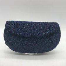 Josef Blue Evening Beaded Clutch
