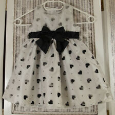 TU Girls' Sleeveless Party Dress Black Hearts 18-24 Mos 86-92cm Wedding Occasion