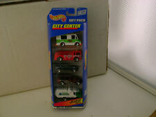 1998 HOT WHEELS CITY CENTER 5 CAR GIFT PACK NEW IN SEALED PACKAGE