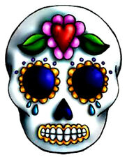 20 water slide nail art decals sugar skull heart on forehead 5/8 trending