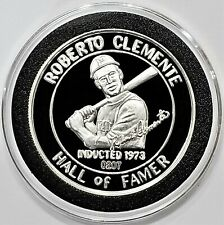 1973 Roberto Clemente Hall of Famer Oregon Mint Proof Silver Medal