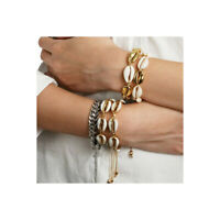 Shell Bracelet Cowrie Shell Gold Friendship Adjustable Beach Bloggers Fav