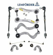 BMW E63 E65 Front Control Arms &Tie Rod Ends + Sway Bar Link Kit OEM Lemforder