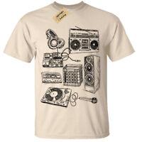 Retro Music Instruments SCREEN PRINTED Mens T Shirt S-5XL dj band old school
